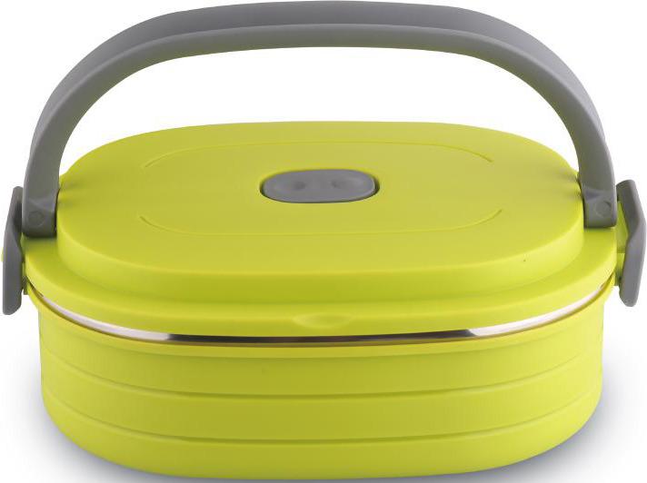 Контейнер пищевой Bekker, BK-4360, светло-зеленый, 900 мл