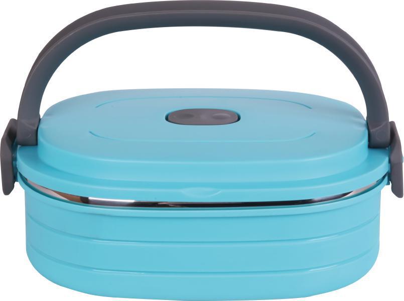 Контейнер пищевой Bekker, BK-4361, голубой, 900 мл