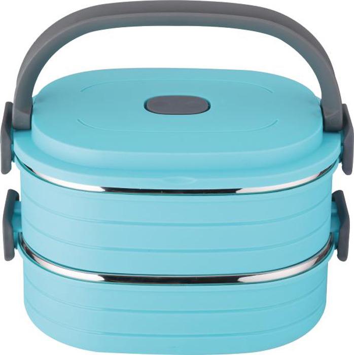 Контейнер пищевой Bekker, BK-4363, голубой, 900 мл, 2 шт
