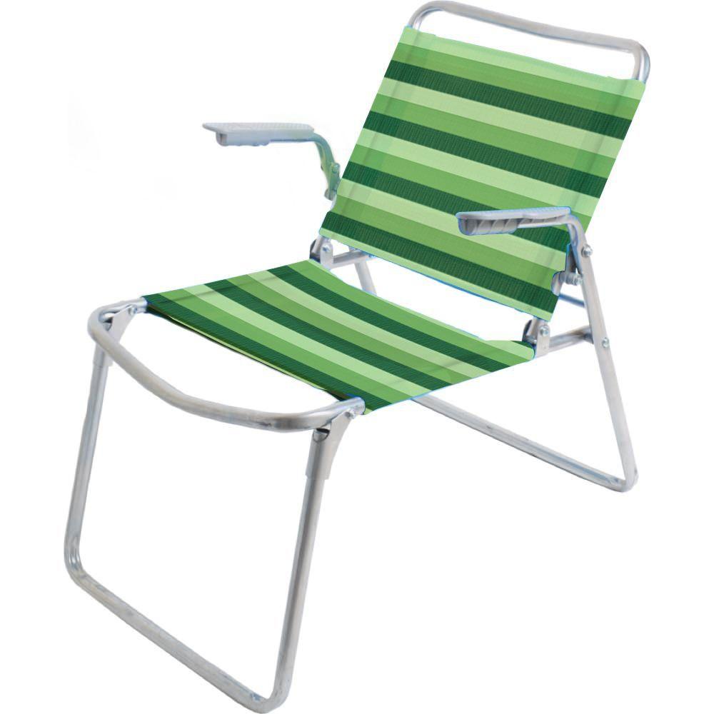 Кресло-шезлонг Nika К1, цвет: зеленые полоски, зеленый