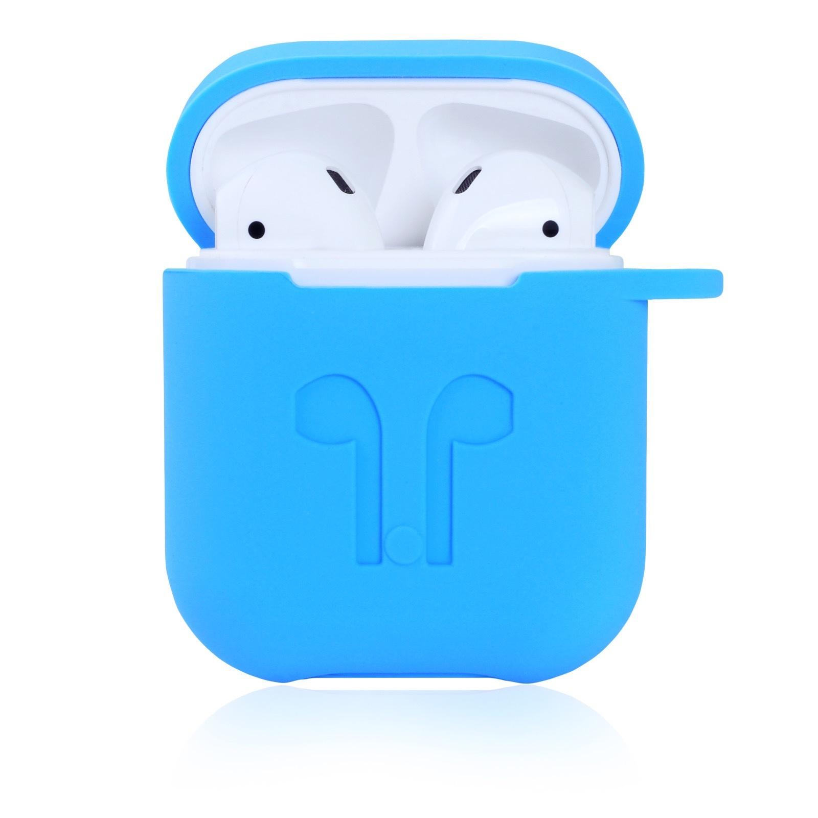 Чехол для наушников Gurdini Soft Touch силиконовый 906703 для Airpods, голубой