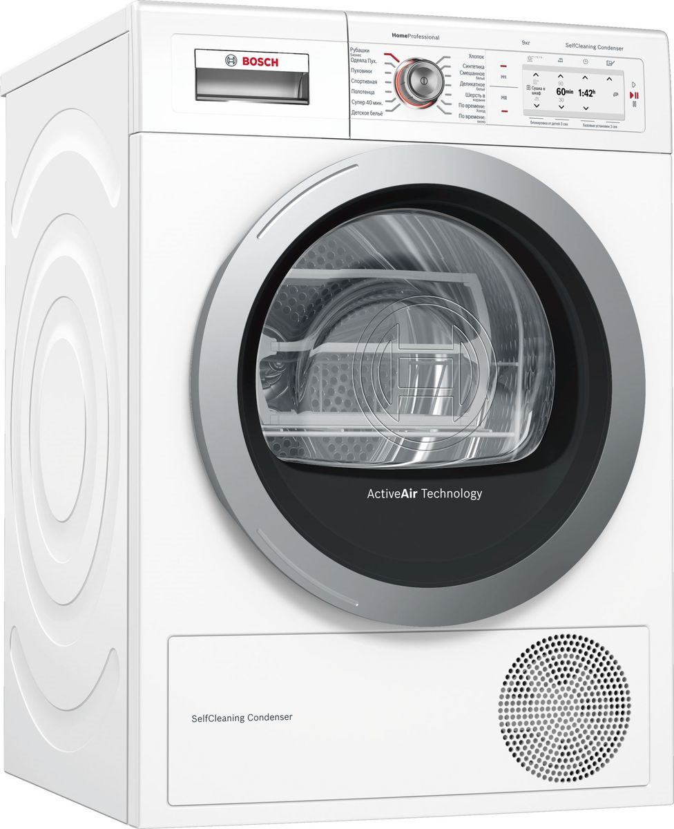 Сушильная машина Bosch Home Professional, WTY87781OE, белый Bosch