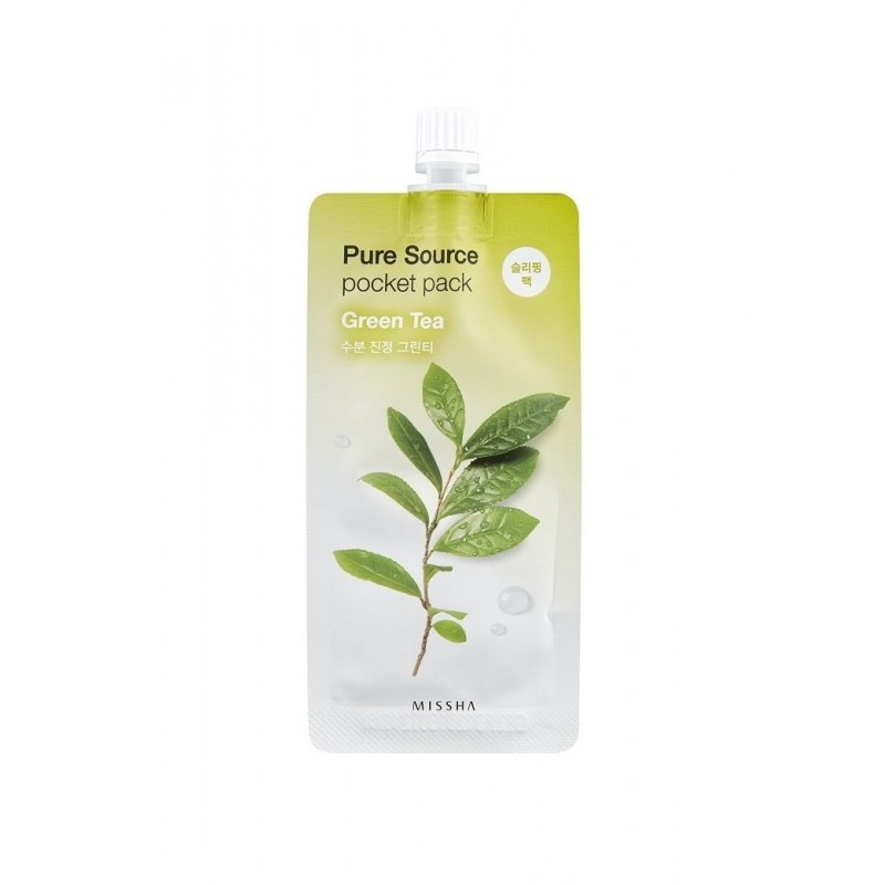 Маска косметическая Missha Маска для лица MISSHA Pure Source Pocket Pack (Green Tea)