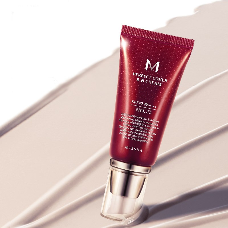 BB-средство Missha Perfect Cover BB Cream SPF42/PA+++ (No.21/Light Beige) missha m signature real complete bb cream spf25 крем бб многофункциональный тон 13 45г