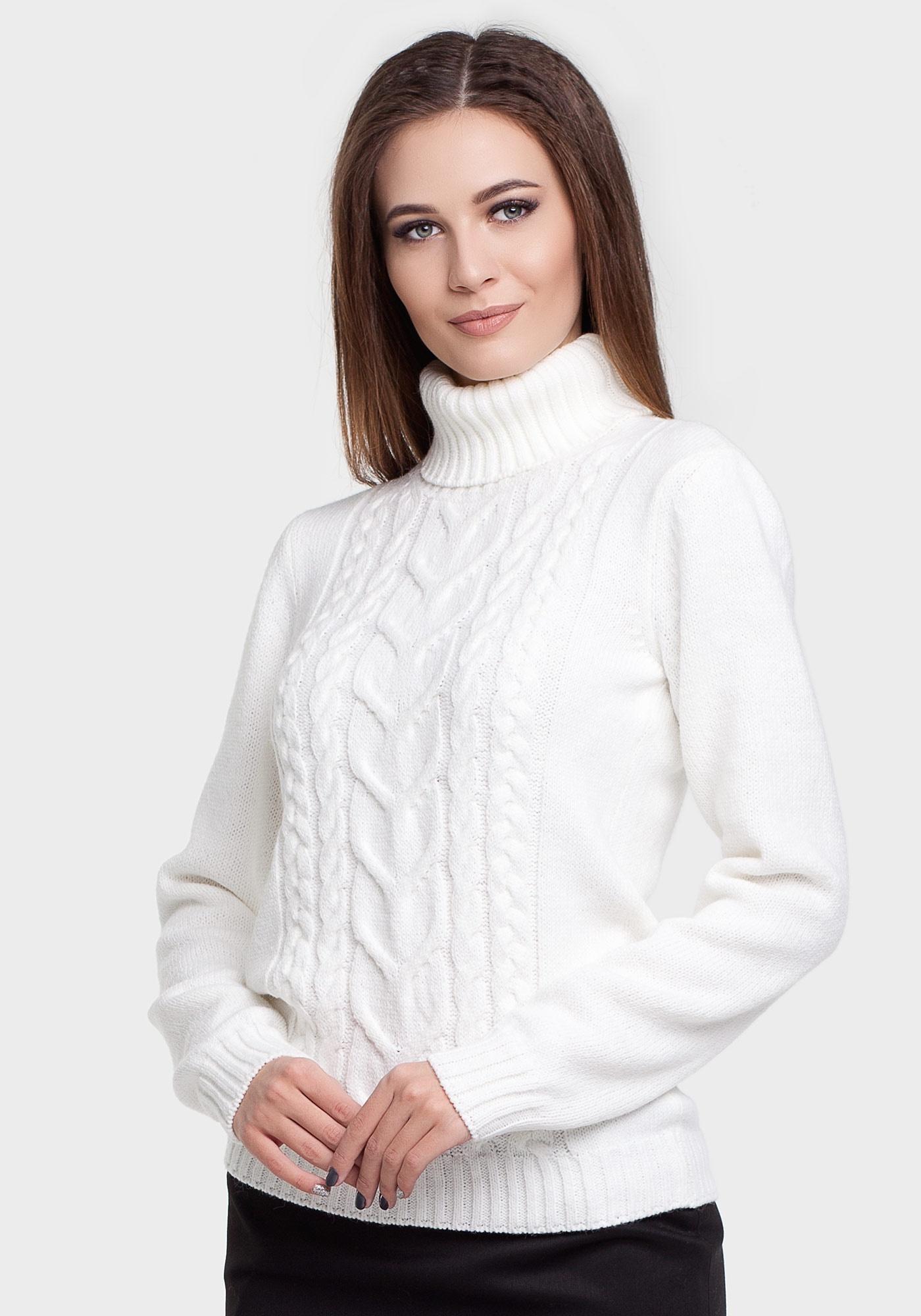 белый вязаный свитер купить