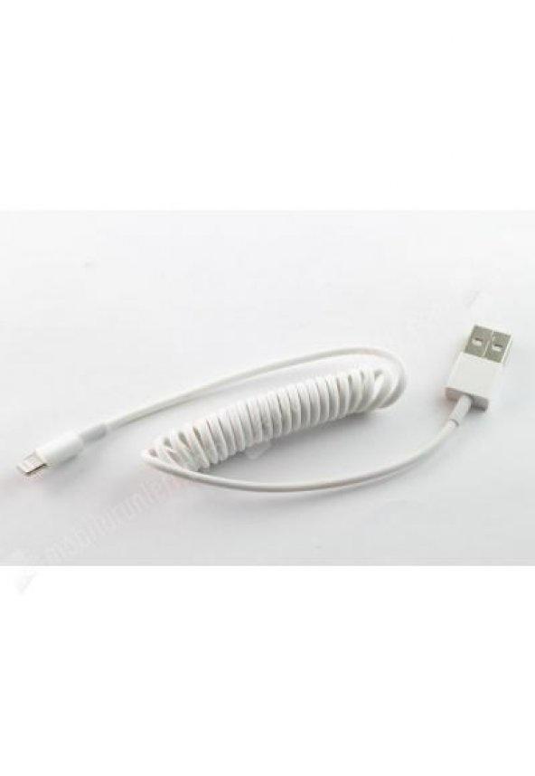 Кабель red line Spiral USB - Lightning, УТ000015708, белый red line ут000014153 pink кабель usb lightning 2 м