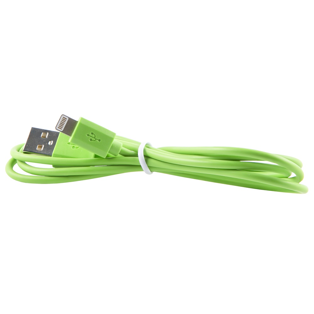 Кабель red line USB - 8 - pin, УТ000010045, зеленый red line zync alloy black кабель usb lightning 1 м