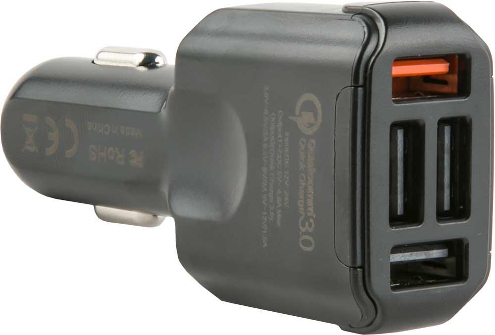 Автомобильное зарядное устройство red line 4USBAC4-30, УТ000015237, черный