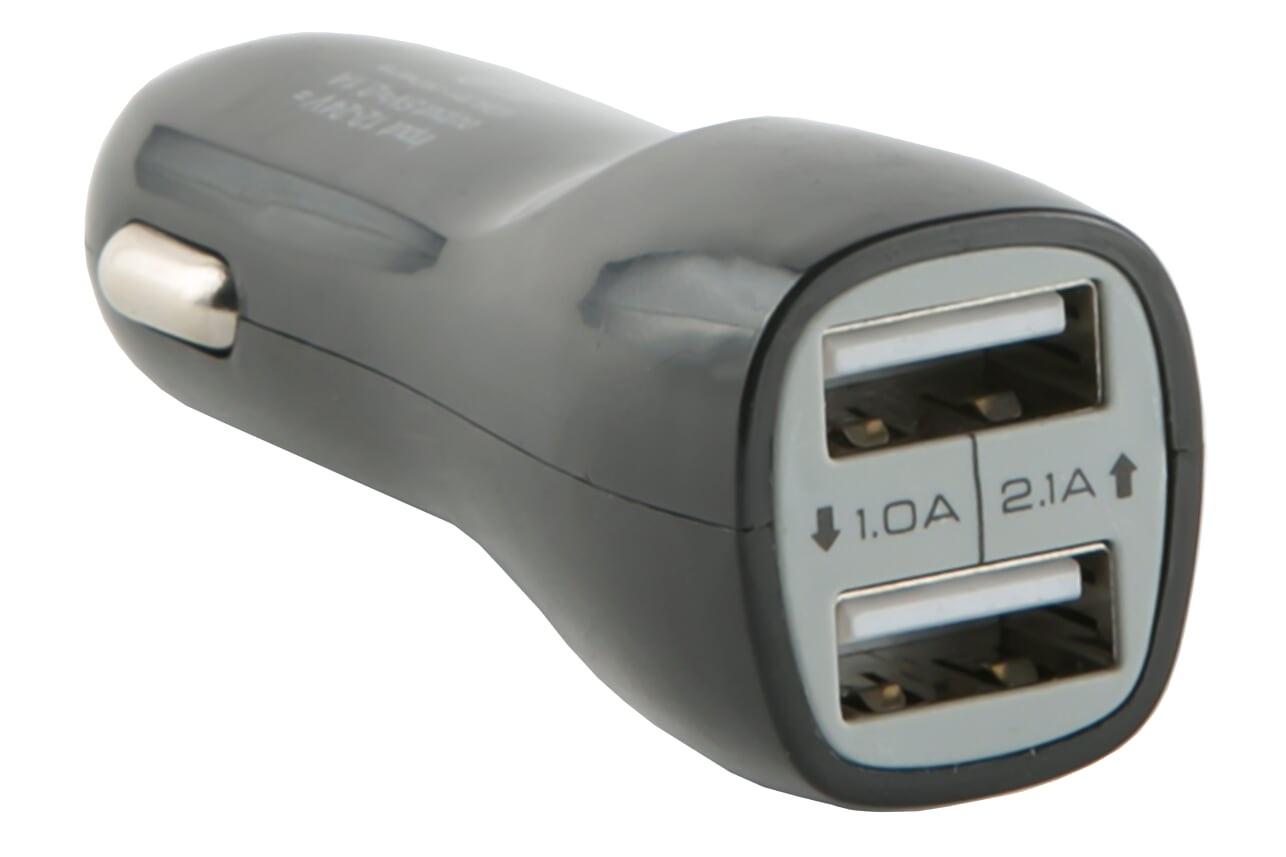 Автомобильное зарядное устройство red line Tech2USB AC2-20, УТ000015802, черный зарядное устройство usb cellular line clbachusbk black