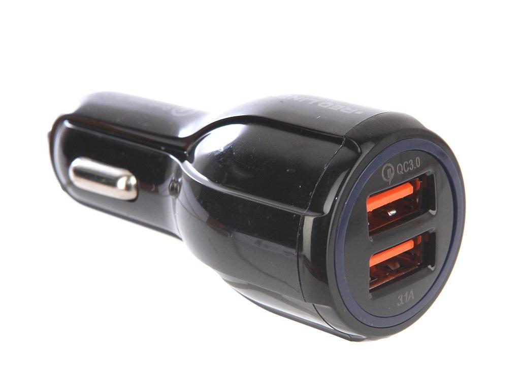 Автомобильное зарядное устройство red line Tech2USBAC2-30, УТ000015783, черный автомобильное зарядное устройство red line xipin2usbсх22 ут000015238 черный