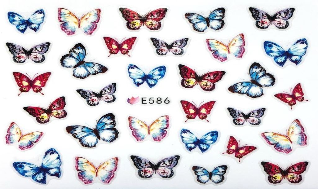 Наклейки для ногтей Бабочки вид 2 Липляндия