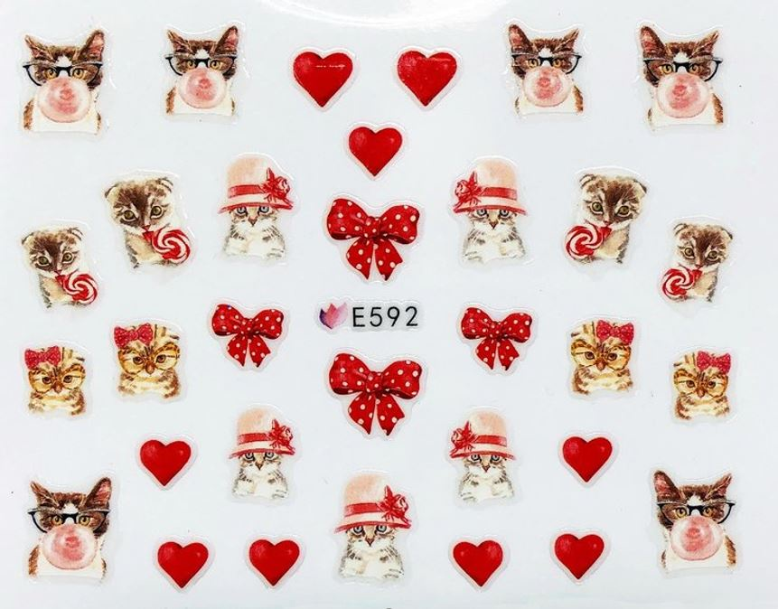 цена на Наклейки для ногтей Липляндия Кошки вид 5