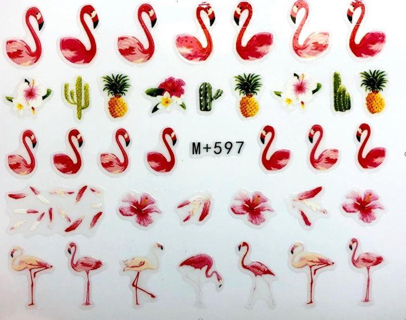 Наклейки для ногтей Липляндия Птицы