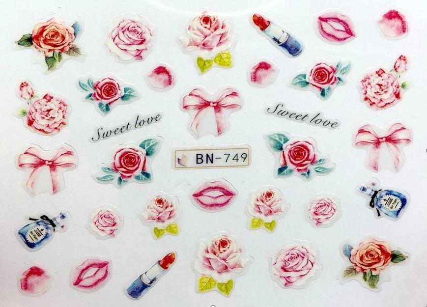 Наклейки для ногтей Липляндия Розы вид 2