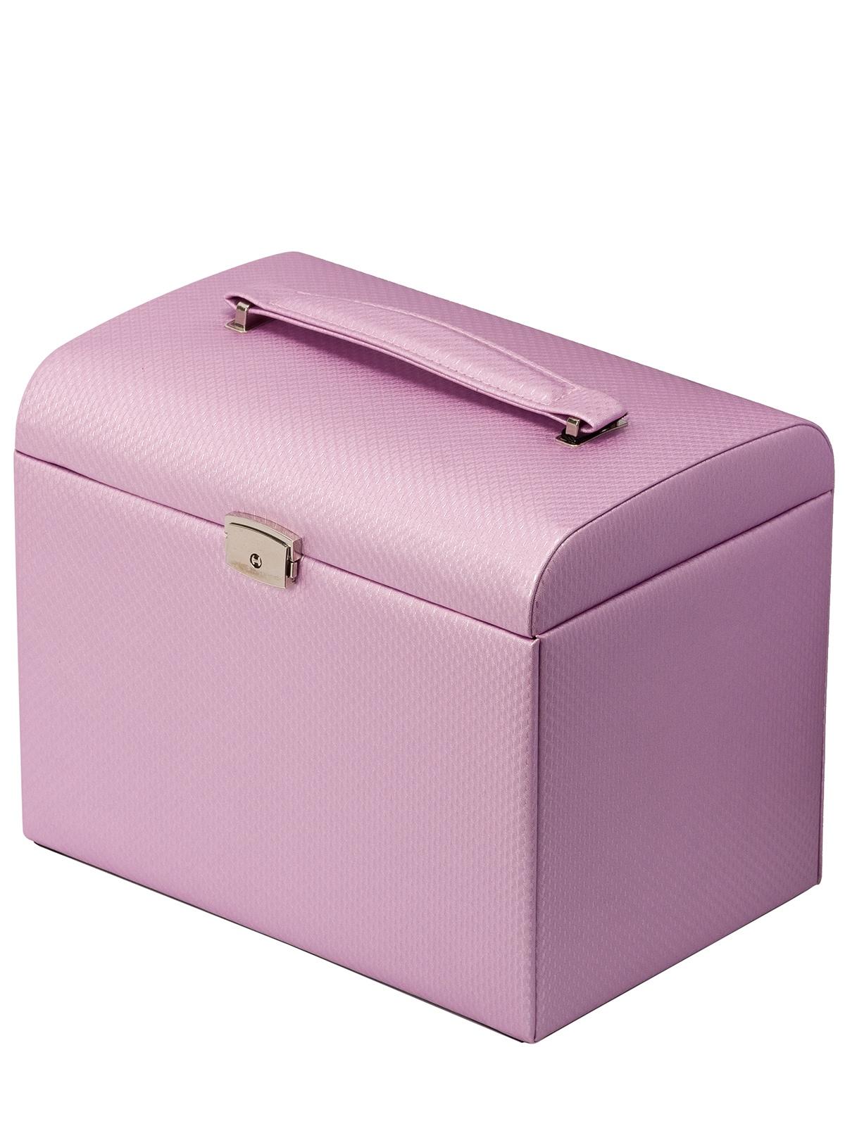 Шкатулка для украшений IsmatDecor S-701B_1, светло-розовый umbra шкатулка для украшений toto большая чёрная орех 5 s fjzyq