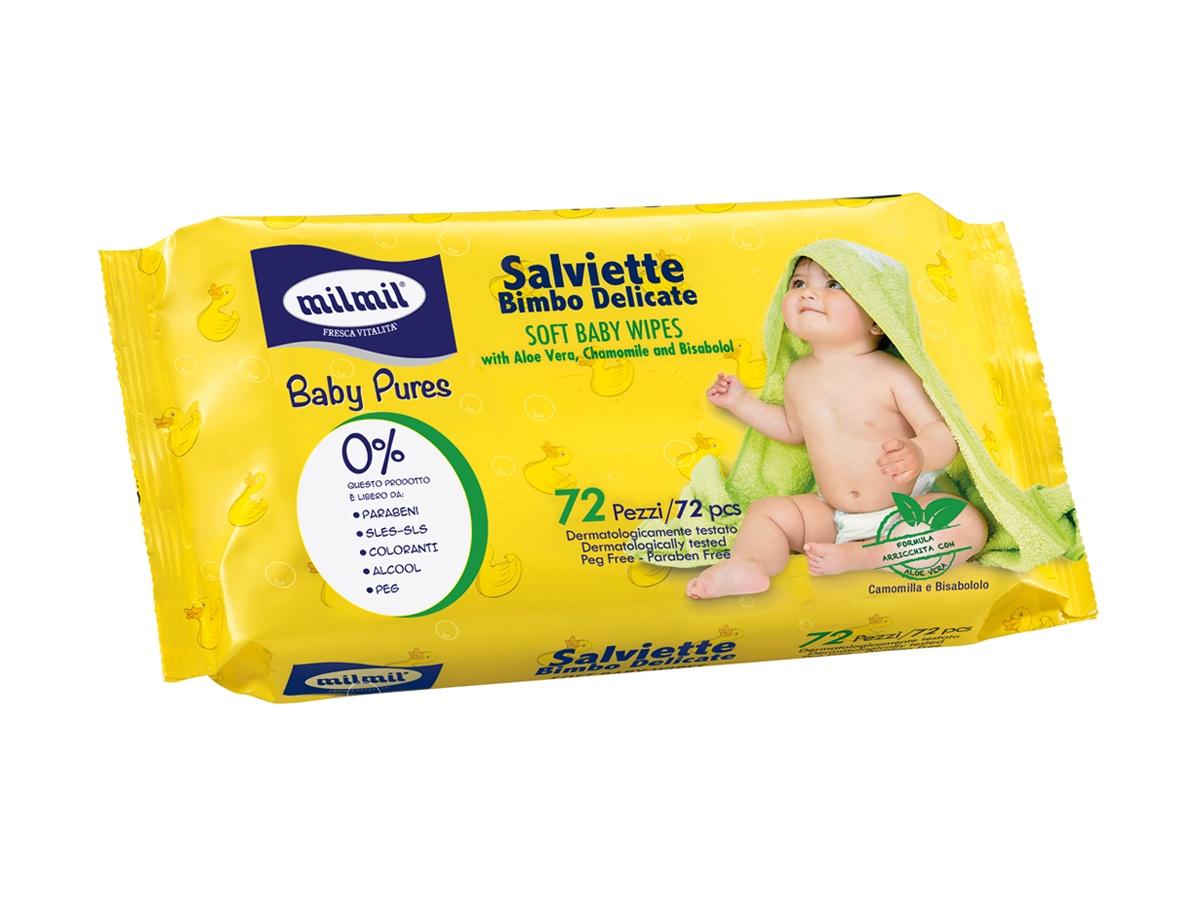 Влажные салфетки Mil Mil влажные Детские салфетки влажные paterra детские с экстрактом алое вера 64 шт
