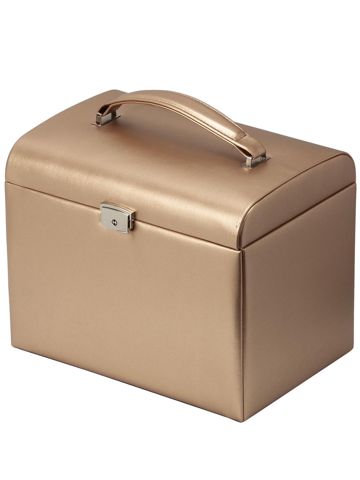 Шкатулка для украшений IsmatDecor S-701B_3, золотой umbra шкатулка для украшений toto большая чёрная орех 5 s fjzyq