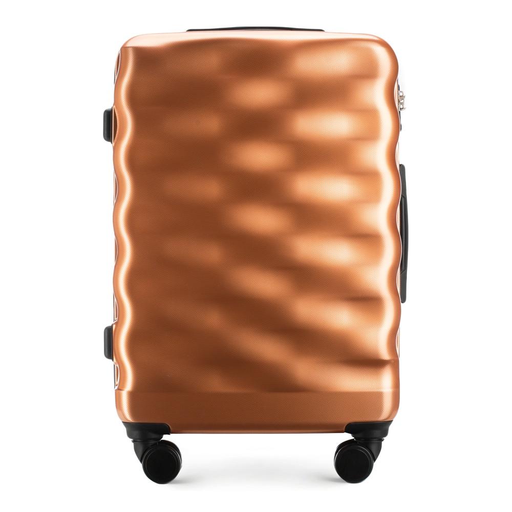Чемодан Wittchen 56-3H-562, медь56-3H-562-60Средний чемоданХарактеристики продукта:артикул товара: 56-3H-562-60ширина (см): 47глубина (см): 26высота (см): 69объем (л): 64вес (кг): 4,1материал: Полимервеличина: средний