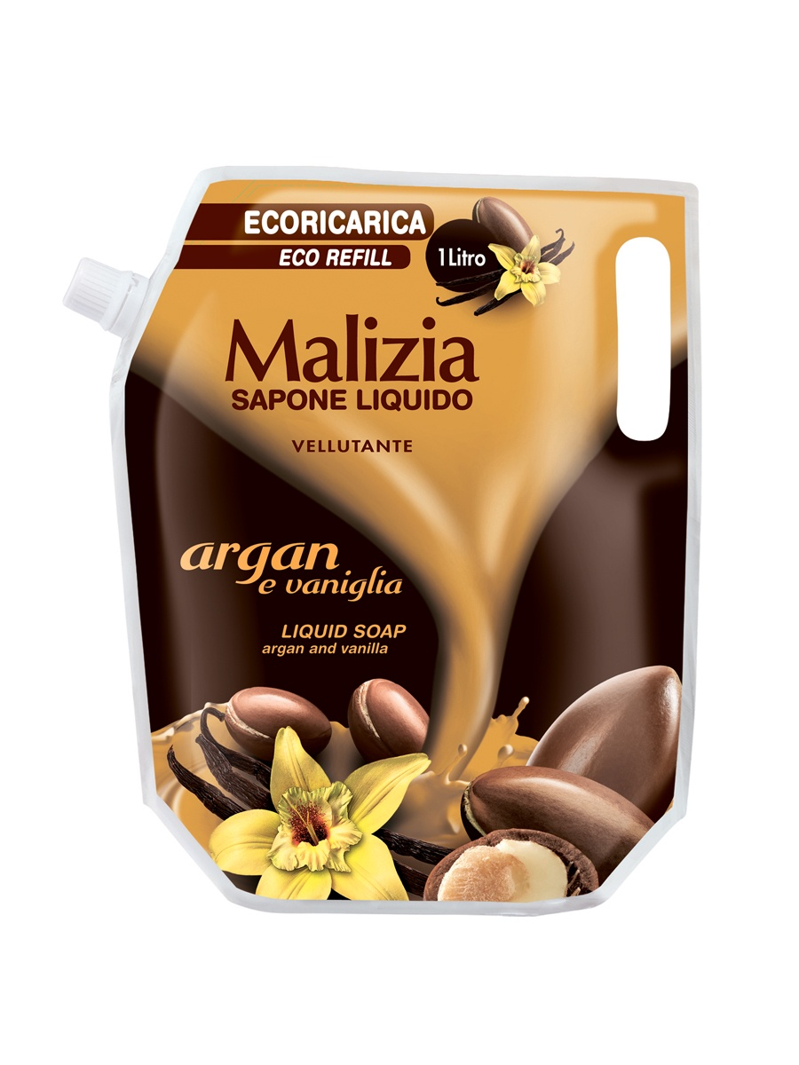 """Жидкое мыло Malizia """"Арган и Ваниль"""""""