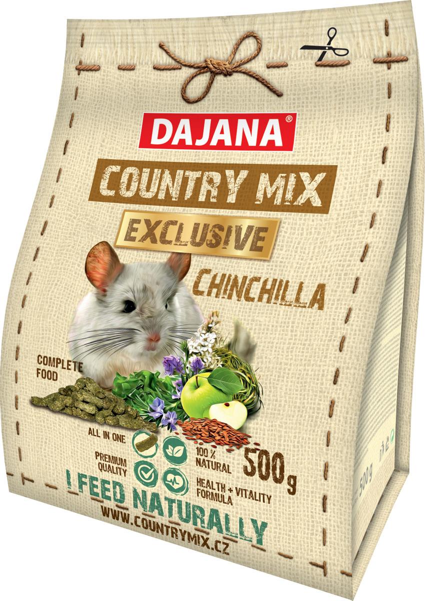 Корм сухой Dajana Exclusive, для шиншил, DP410J, 500 г