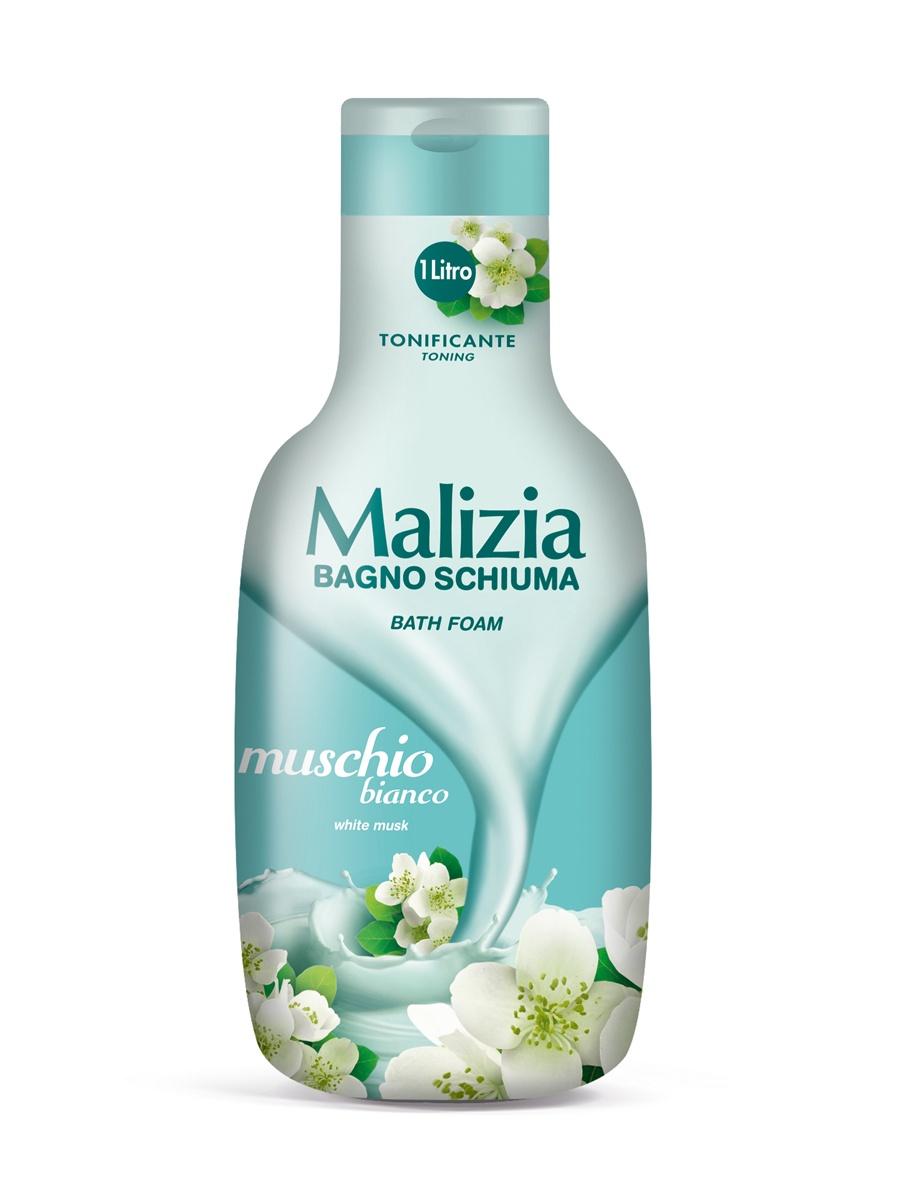 Пена для ванны Malizia для душа и ванны белый мускус