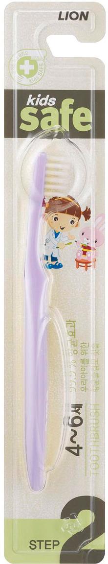 Зубная щетка CJ Lion Kids Safe Toothbrush, детская, шаг 2, цвет в ассортименте