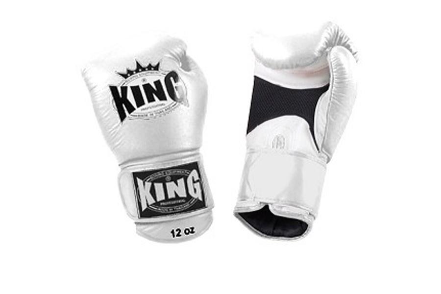 цены Боксерские перчатки King Перчатки боксерские KBGAV 10 унций белые, белый