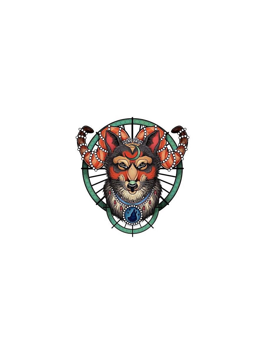 """Переводное тату МнеТату """"Волк"""" временные татуировки мнетату золотая переводная тату клеопатра"""