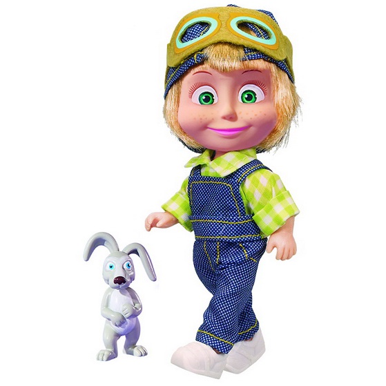 Кукла Маша и Медведь Маша с зайкой, 12 см, 4627161062041