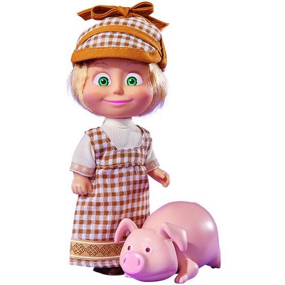 Кукла Маша и Медведь Маша со свинкой, 12 см, 4627161062089