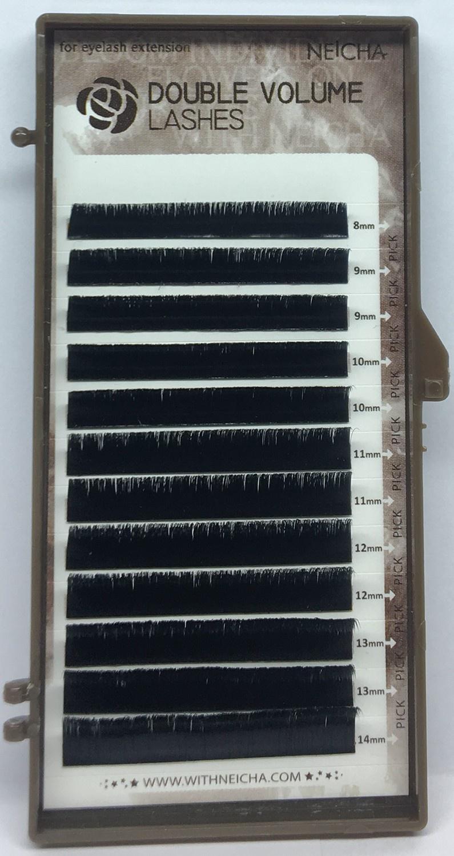 Фото - Накладные ресницы NEICHA MIX DOUBLE VOLUME микрокольца для наращивания волос 2 dread dreadlock