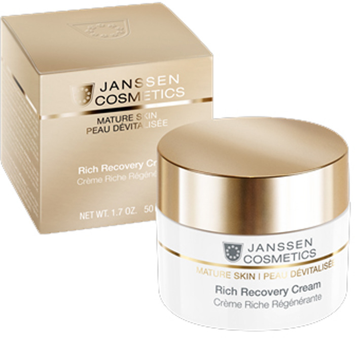 Крем для ухода за кожей Janssen Rich Recovery Cream обогащенный anti-age, с комплексом Cellular Regeneration, 50 мл janssen аnti age лифтинг крем с комплексом cellular regeneration perfect lift cream 150 мл