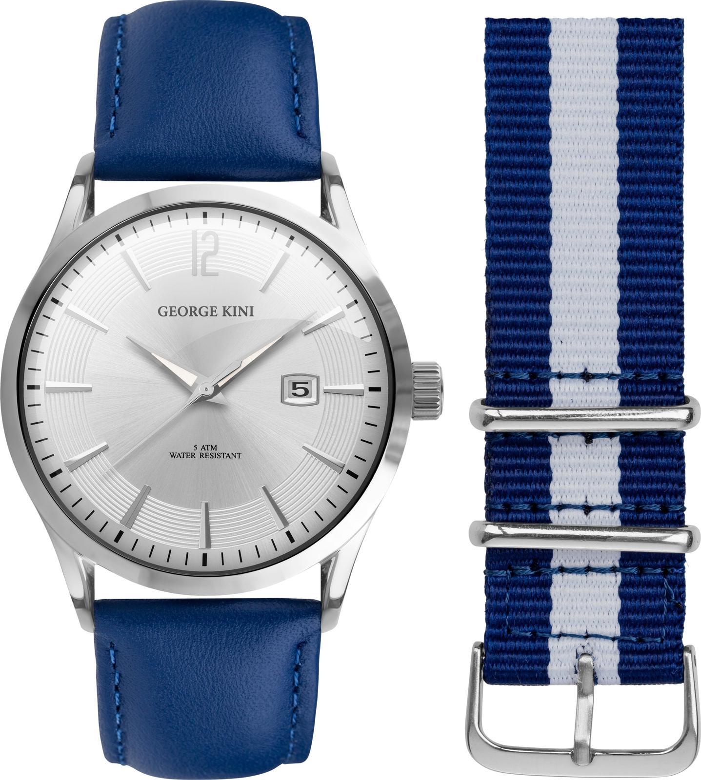 Наручные часы George Kini мужские синий купить часы с механизмом miyota