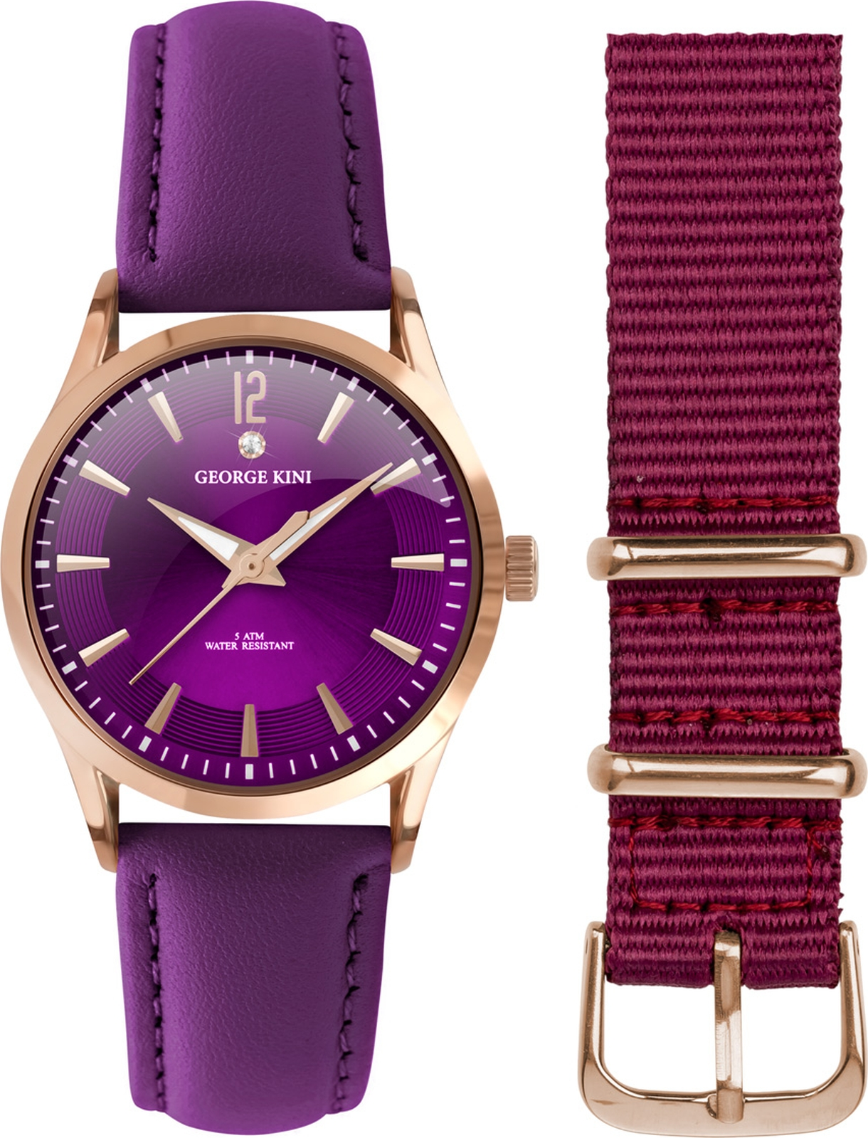 Наручные часы George Kini женские фиолетовый