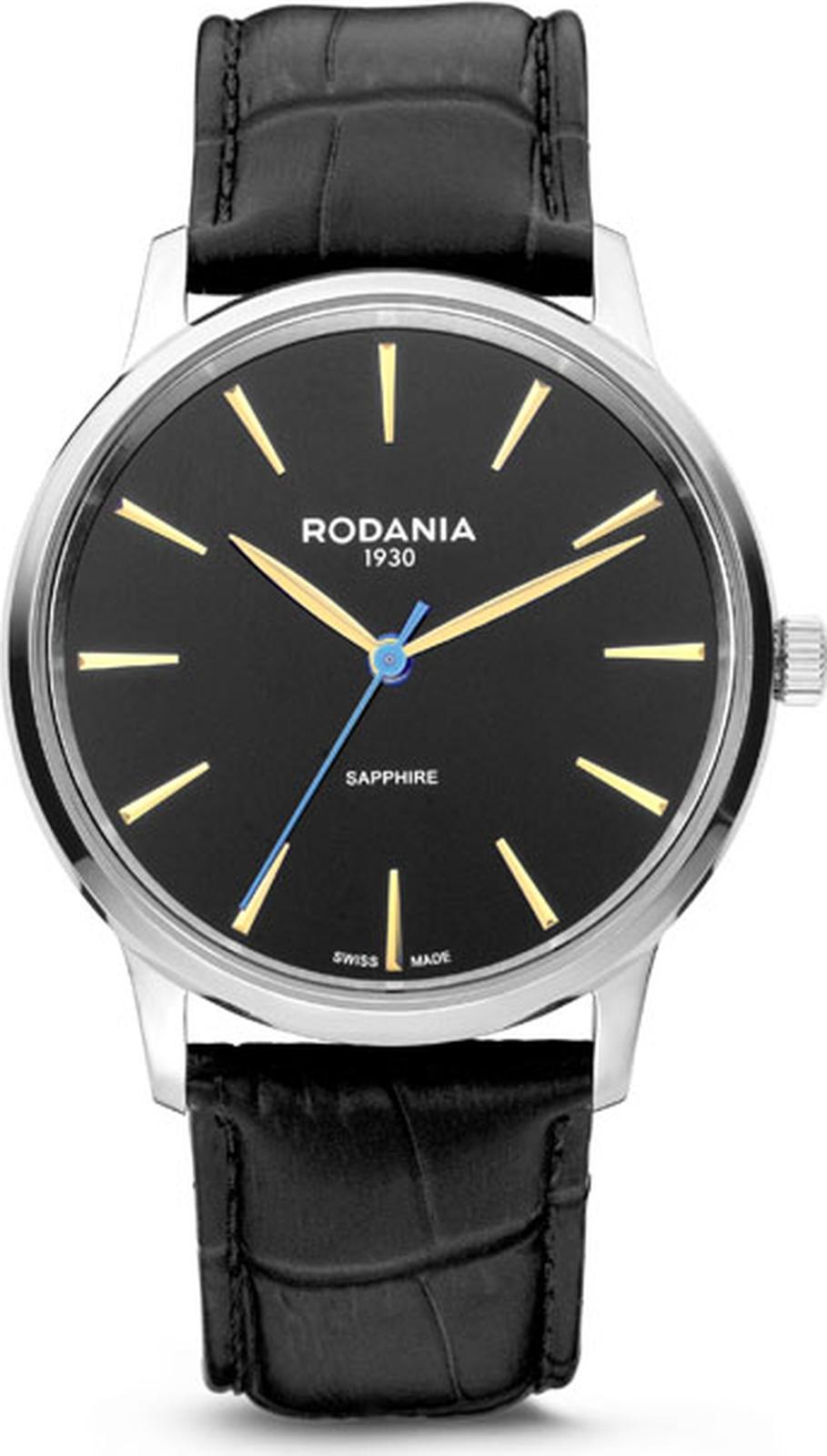 цена Наручные часы Rodania мужские черный онлайн в 2017 году