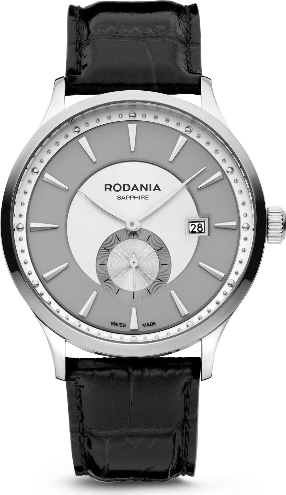 купить Наручные часы Rodania мужские серый по цене 15481 рублей