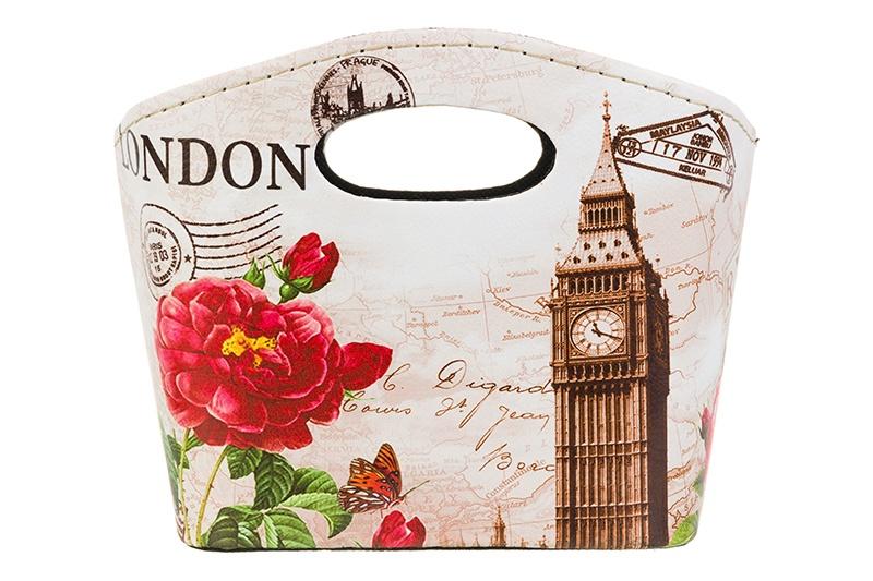 Органайзер для мелочей и косметики EL Casa Биг Бен, 171924, бежевый, кремовый, красный el casa косметичка сумочка розовая