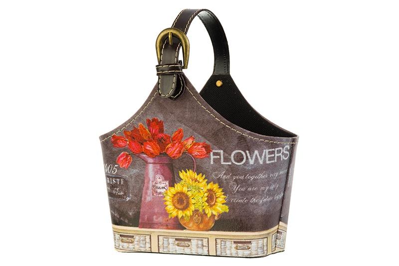 Органайзер для мелочей и косметики EL Casa Натюрморт с подсолнухами, 171251, красный, коричневый, желтый el casa косметичка сумочка розовая