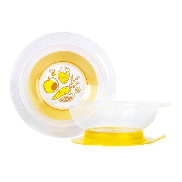 Тарелка ПОМА на присоске, 3615, белый, желтый