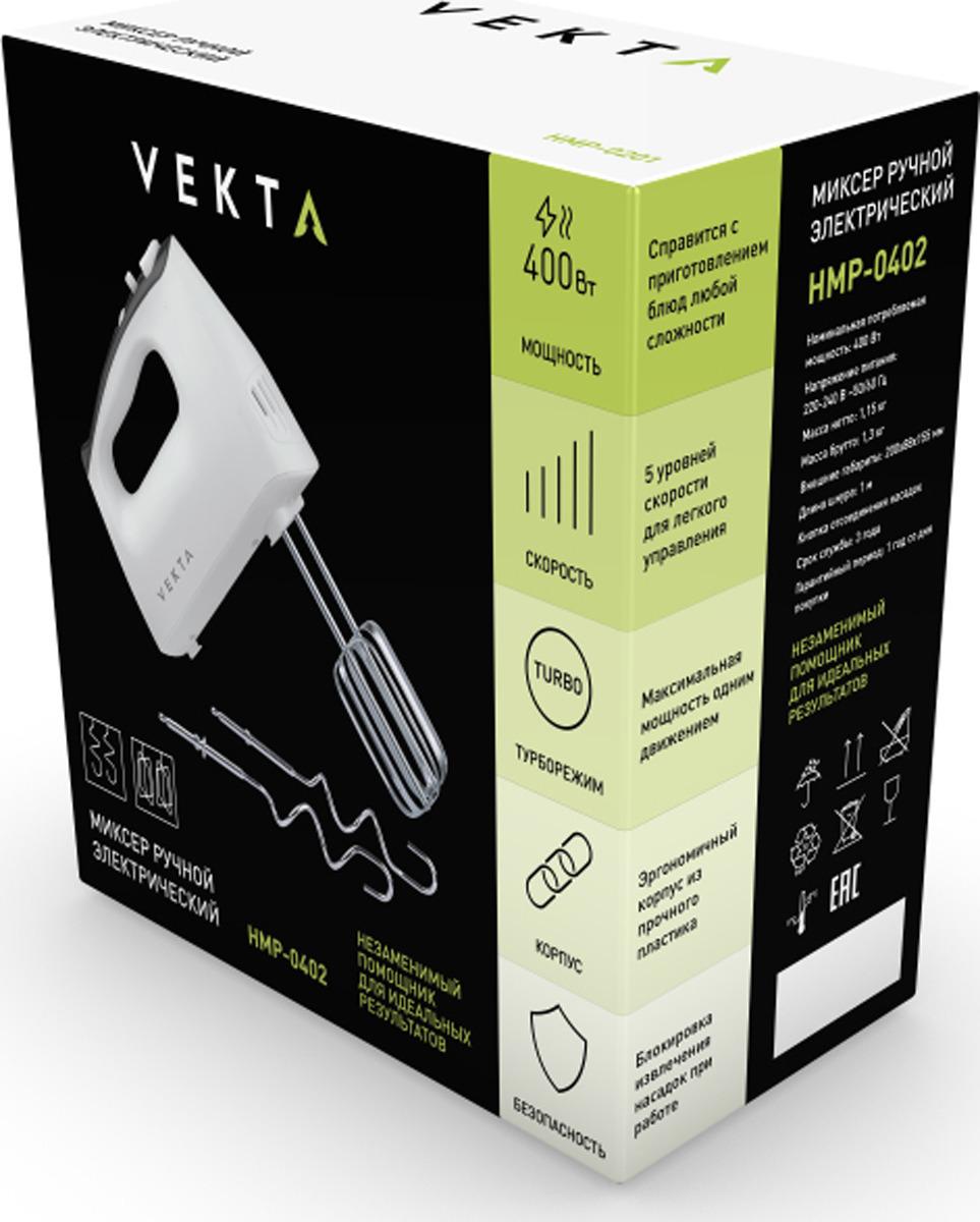 Миксер Vekta HMP-0402, белый, черный Vekta
