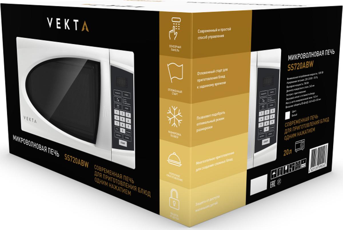 Микроволновая печь Vekta SS720ABW, белый Vekta