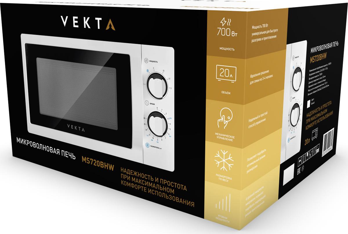 Микроволновая печь Vekta MS720BHW, белый Vekta