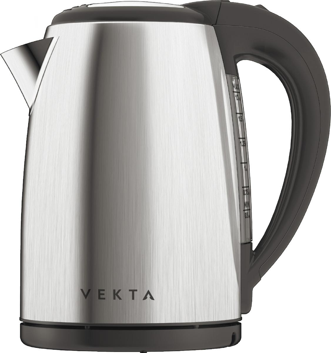 Электрический чайник Vekta KMS-1702, серый металлик, 1,7 л
