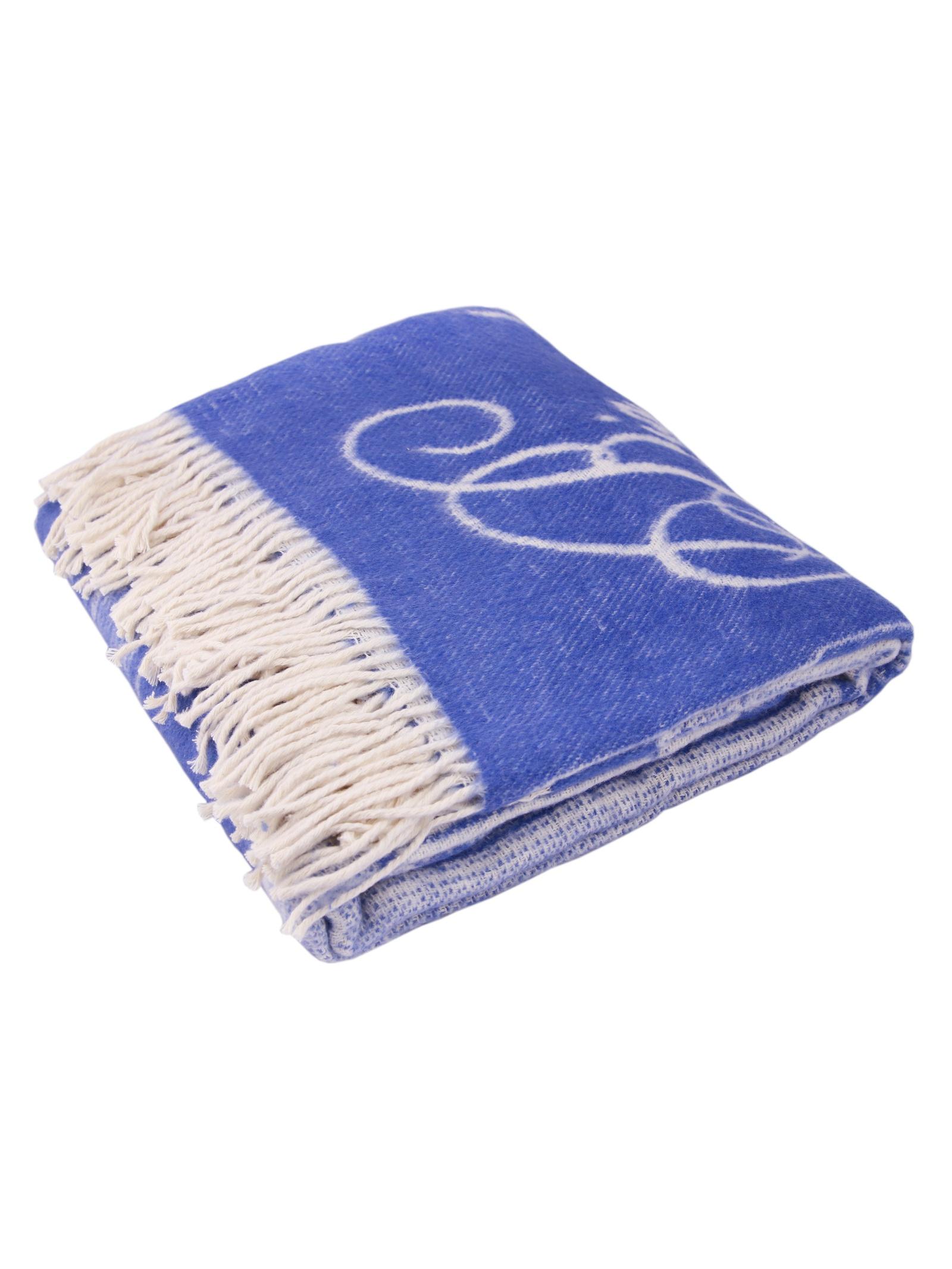 Плед Arloni жаккардовое переплетение, 27081, голубой цена
