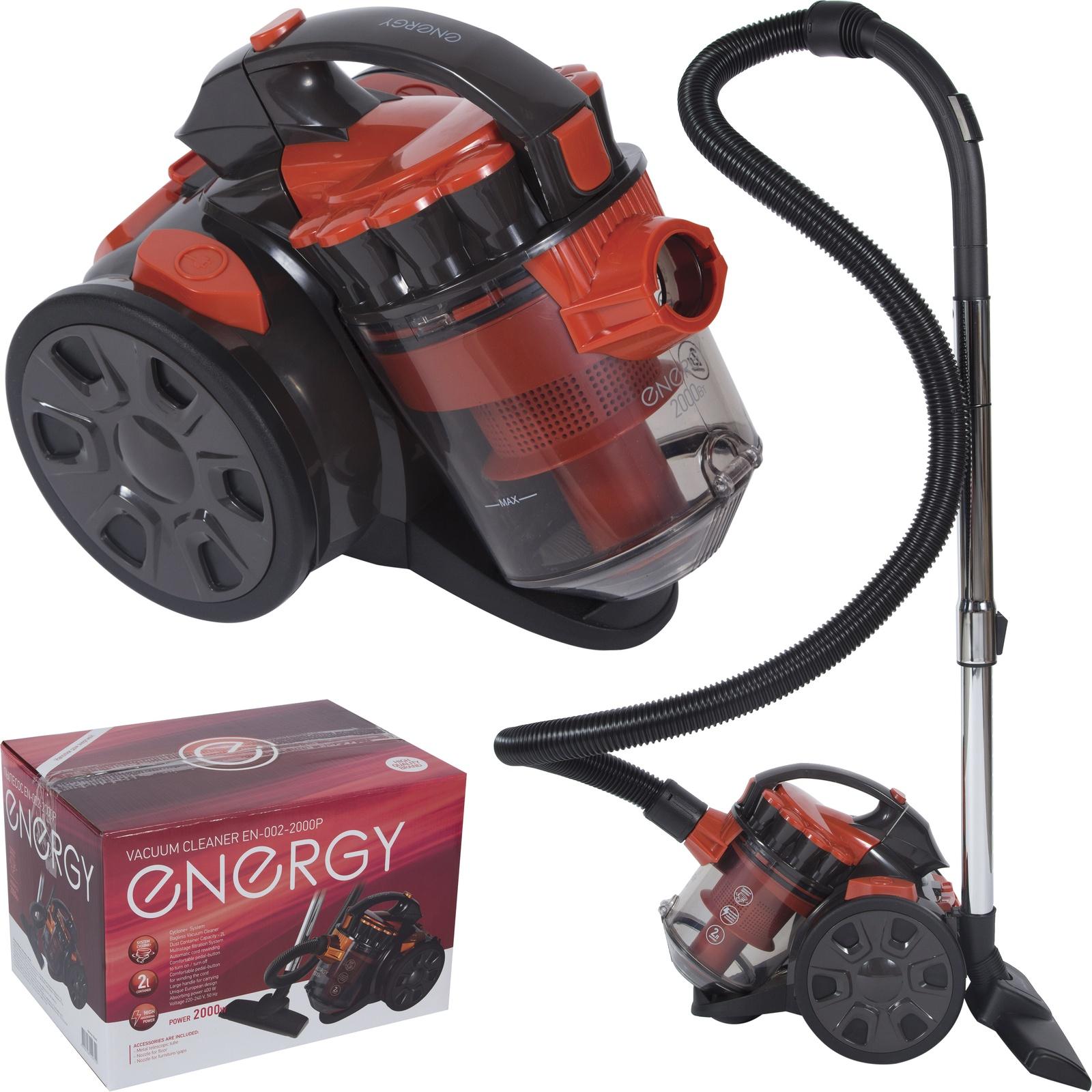 все цены на Бытовой пылесос ENERGY EN-002-2000Р, 54 004699, красный, черный онлайн