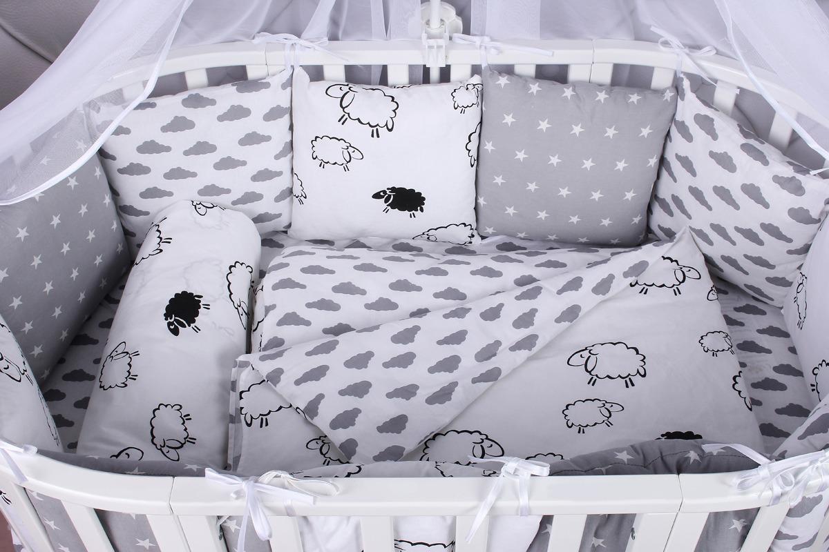 Комплект белья в кроватку AmaroBaby Good Night, поплин, бязь, 15 предметов