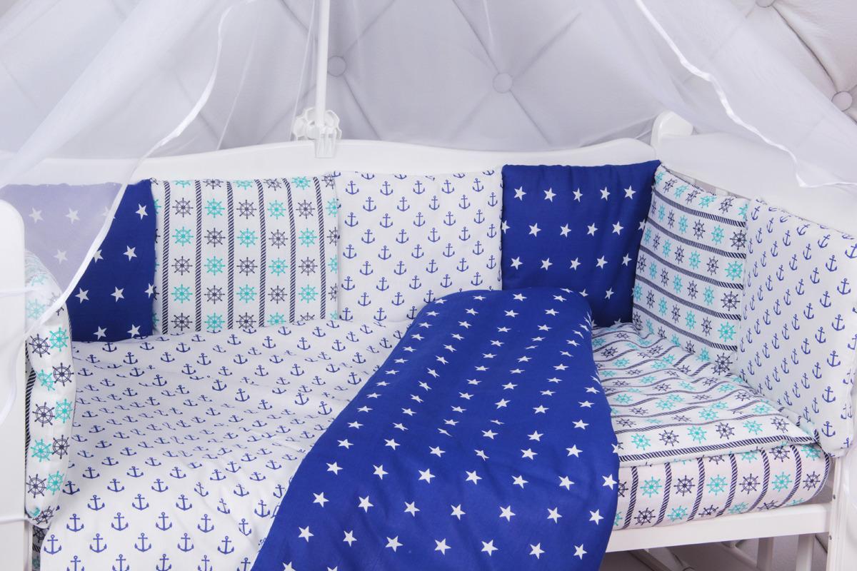 Комплект белья в кроватку AmaroBaby Бриз, бязь, 15 предметов