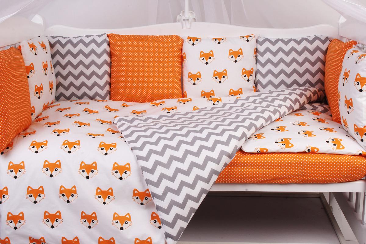 Комплект белья в кроватку AmaroBaby Lucky, поплин, бязь, 15 предметов