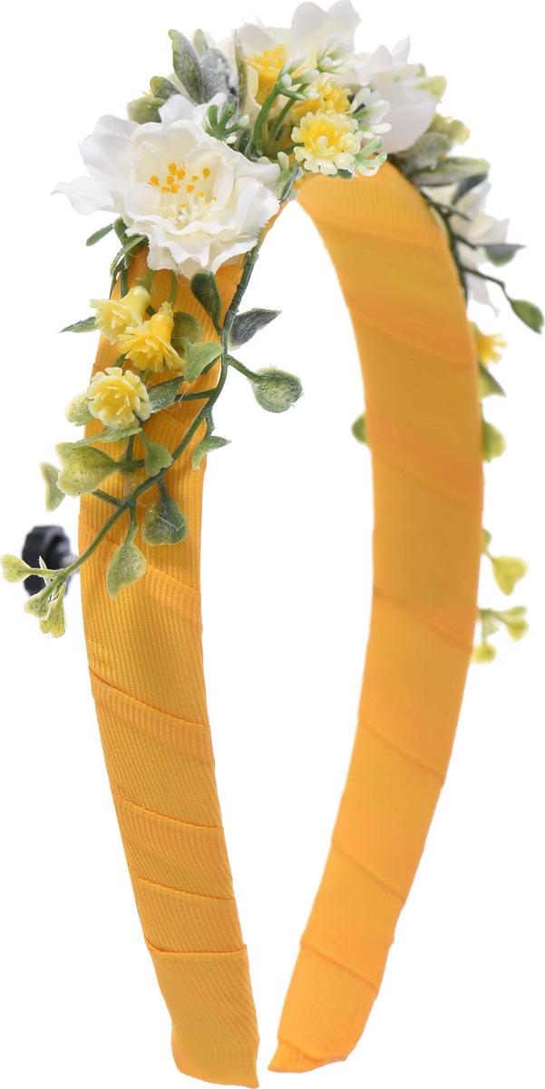 Ободок детский Malina By Андерсен Флоренция, 11907ов50, желтый11907ов50Яркие весенние цветы в сочетании с желтой репсовой лентой, являются главными элементами этой коллекции. Украшения этой линии прекрасно подойдут для прогулки в центральном парке и даже семейного пикника.