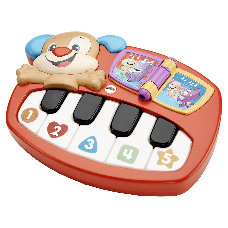 Игрушка FISHER-PRICE Смейся и учись пианино-щенок